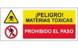 Peligro materias toxicas Prohibido el paso SC37