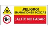 Peligro emanaciones toxicas Alto no pasar SC38