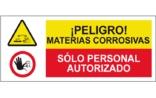 Peligro materias corrosivas Sólo personal autorizado SC40