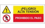 Peligro alta tensión Prohibido el paso SC42