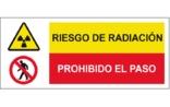Riesgo de radiación Prohibido el paso SC46