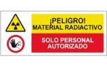 Peligro material radioactivo Sólo personal autorizado SC47