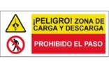 Peligro zona de carga y descarga Prohibido el paso SC51