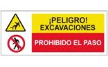 Peligro excavaciones Prohibido el paso SC53