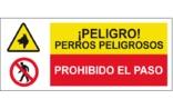 Peligro perros peligrosos Prohibido el paso SC56