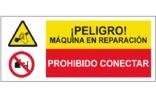 Peligro maquinaria en reparación Prohibido conectar SC57