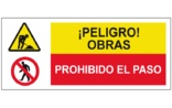 Peligro obras Prohibido el paso SC58