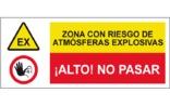 Zona con riesgo de atmósferas explosivas Alto no pasar SC60