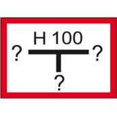 Señales de lucha contra incendios H-134 Señal hidrante fotoluminiscente clase B