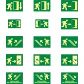 Señales de evacuación, salvamento y socorro  Señales horizontales para rutas de evacuación