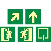 Señales de evacuación, salvamento y socorro  Señales rutas de evacuación de medidas 224x224mm