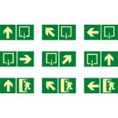 Señales de evacuación, salvamento y socorro  Señales rutas de evacuación de medidas 448x224mm