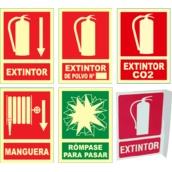 Señales de lucha contra incendios