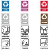 Señalización de reciclaje de residuos