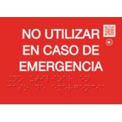 PVC Fotoluminiscente Clase A Braille 148x105mm BR-0251 Señal Braille PVC Clase A No usar caso Emergencia