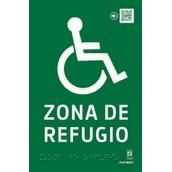 PVC Fotoluminiscente Clase A Braille 148x224mm BR-0251 Señal Braille PVC Clase A Zona de refugio