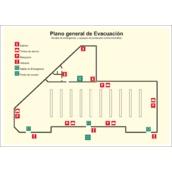 Señales de lucha contra incendios  Planos de evacuación fotoluminiscentes PVC