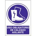 SO814 Uso obligatorio de calzado aislante
