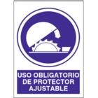 SO817 Uso obligatorio de protector ajustable
