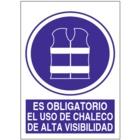 SO821 Es obligatorio el uso de chaleco de alta visibilidad
