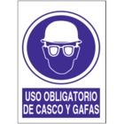 SO827 Uso obligatorio de casco y gafas
