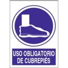 SO831 Uso obligatorio de cubrepiés