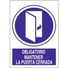 SO833 Obligatorio mantener la puerta cerrada