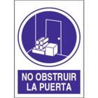 SO834 No obstruir la puerta