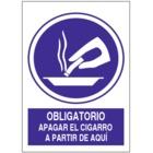 SO835 Obligatorio apagar del cigarrillo a partir de aquí