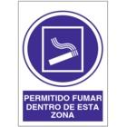 SO836 Permitido fumar dentro de esta zona