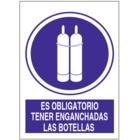 SO839 Es obligatorio tener enganchadas las botellas