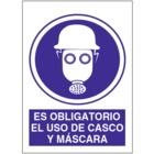 SO842 Es obligatorio es uso de casco y máscara