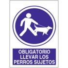 SO860 Obligatorio llevar los perros sujetos