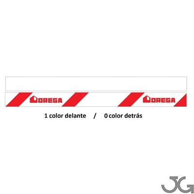 Cintas de balizamiento o señalización personalizada, 1 cara 1 color, detrás en fondo blanco. Con el anagrama o texto que elijas.