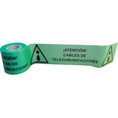 Cintas para marcaje de conductos subterráneos 113 Cinta 15cm x 200m señalización ATENCIÓN CABLES DE TELECOMUNICACIONES. Galga 300