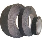 Cintas adhesivas antideslizantes  Cinta adhesiva antideslizante negra de 25mm y 50mm x 18m y 25mm x 5m