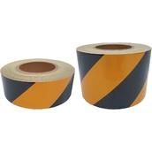 Cintas adhesivas Reflectantes Réflex N1  Cinta Adhesiva Reflectante Amarilla/Negra franjas a 45º