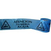 Cintas para marcaje de conductos subterráneos 115 Cinta 15cm x 200m Señalización subterránea ATENCIÓN Tubería Agua. Galga 300