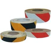 Cintas adhesivas antideslizantes  Cinta adhesiva antideslizante roja/blanca y amarilla/negra