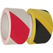 Cintas adhesivas de señalización  Cinta adhesiva en base de caucho 5cm x 33m bicolor