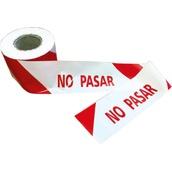 Cintas de señalización o balizamiento 160 Cinta balizamiento NO PASAR 10cm x 200m Galga 300 impresa a dos caras