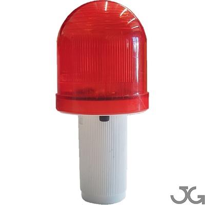 Luz de color rojo para conos de señalización y vallas plegables R/B.