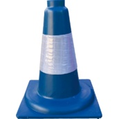 Conos de 1 pieza 90415 Cono azul PP duro 1 pieza 30cm Camisa Réflex 10cm