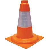 Conos de 1 pieza 90410 Cono naranja PVC Flexible 1 pieza 30cm Camisa Réflex 10cm
