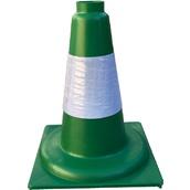 Conos de 1 pieza 90416 Cono verde PP duro 1 pieza 30cm Camisa Réflex 10cm
