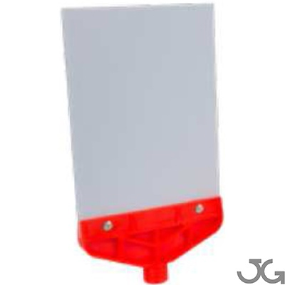 Panel A4 porta cartel para señales adhesivas. Medidas: 210x380mm. Material: PVC + PP 5mm. Color: Naranja