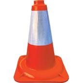 Conos de 1 pieza 90407 Cono naranja fluor PP 1 pieza 45cm Camisa Réflex 20cm