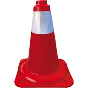 Conos de 1 pieza 90401 Cono rojo PP 1 pieza 45cm Camisa Réflex 10cm
