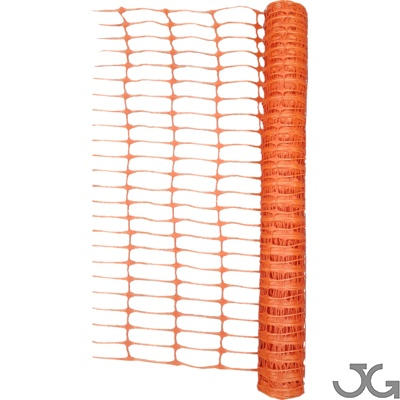 Malla de balizamiento y señalización naranja, rollo de 1x50m. Fabricada en polietileno estándar color naranja. Malla de seguridad y señalización obras y protección, delimitación de zonas de trabajo.