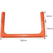 Mallas y seguridad en la obra 7034 Ecopate 300 Curvo-Recto Naranja